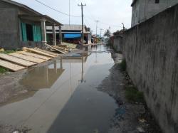 Diguyur Hujan 1 Jam, Jalan Elang Pangkalan Dodek Terendam Banjir