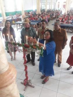 Ratusan Pedagang dari 54 Pasar Rayakan Natal Sekaligus Bona Taon di Kwalabekala