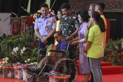 Di Perayaan Natal, Panglima Bicara Semangat Prajurit TNI Bantu Korban Bencana