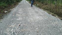 Baru Selesai Diaspal, Jalan Bandar Huta Usang Sudah Rusak