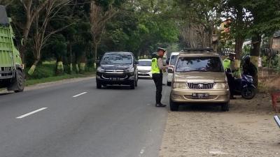 Polres Sergai Gelar Razia Kelengkapan Surat Kendaraan