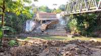 Pembangunan Jembatan Lauri di Nias Terbengkalai