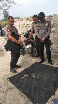 Tim Jibom Poldasu Ledakkan Diduga Bom Mortir di Pantaicermin