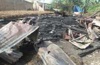 Rumah Walsen Purba Terbakar di Raya Simalungun