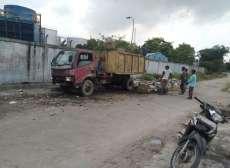 Sampah Depan Kuburan Etnis China Lubukpakam Dibersihkan