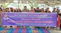 Jalan Diaspal, Masyarakat Sinar Kemenangan Berterima Kasih Kepada Bupati Deliserdang
