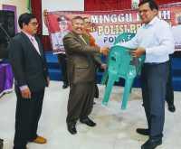 Kapolres Dairi Serahkan Bantuan Kursi kepada Jemaat GSJA Tanjung Beringin