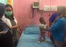 Sempat Viral, Balita Berpenyakit Tumor di Pipi Dibawa ke RSUD Deliserdang