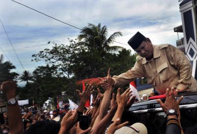Prabowo Minta Pendukung Jaga TPS Sampai Pagi Meski Tak Diberi Uang