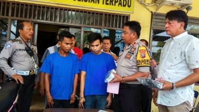 Polisi Bekuk 2 Pria Pencuri Sepedamotor