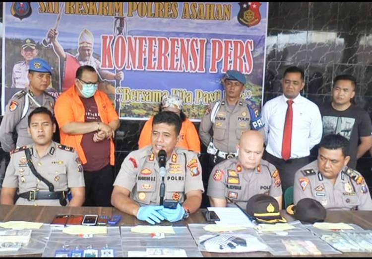 Ringkus 2 Pelaku Polres Asahan Ungkap Kasus Penipuan Modus Mata
