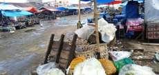 Imbas Covid-19,  Pusat Pasar Sidikalang Lengang