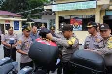 Kapolres Sergai Cek Kendaraan Patroli  Pencegahan Covid-19