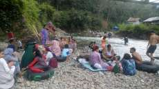 Wisata Alam Sungai Siraisan Palas Ramai Pengunjung