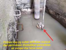 Debit Air Sungai Ular Surut,  Distribusi PDAM Tirta Deli di Lubukpakam Terganggu