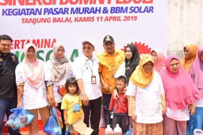 HUT BUMN, PT Pelindo I Gelar Pasar Sembako dan Solar Murah di Tanjungbalai