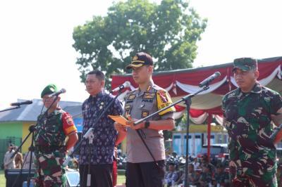 Kapolrestabes Medan Pimpin Apel Gelar Pasukan Kesiapan Pemilu