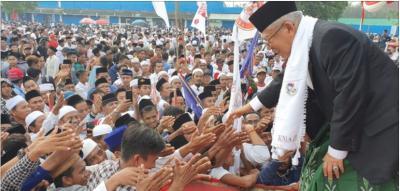 Kampanye di Sumenep, Ma'ruf Tegaskan Jokowi Cinta Ulama