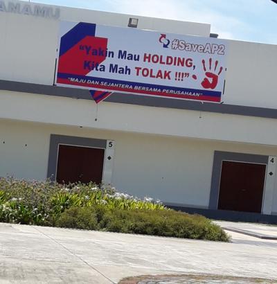 Karyawan PT AP II KNIA Menolak Pembentukan Holding Penerbangan