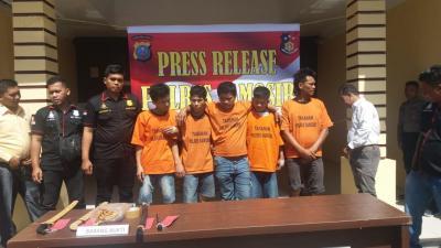 5 Pelaku Curas di Harian Samosir Terancam 12 Tahun Penjara