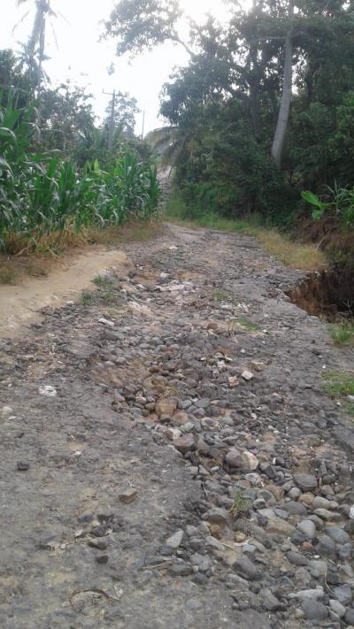 Jalan ke Desa Kuta Buara Karo Memprihatinkan