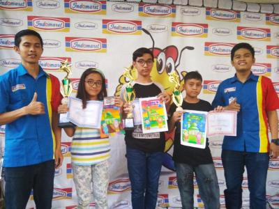 Anak Wartawan SIB Juara Lomba Mewarnai Kaligrafi di Cibubur