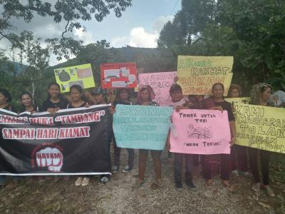Seratusan Warga Gelar Aksi Tolak Keberadaan Tambang di Desa Pandiangan Dairi