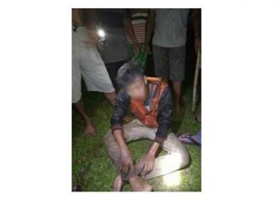 Pencuri HP Babak Belur Dihajar Massa di Simpangmarbau Labura