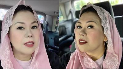 Yenny Wahid Tampil Cantik  dengan Kerudung Pink  dan Tanpa Guratan di Wajah