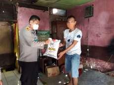 Kapolsek Medan Area Bantu Pemuda Yatim Piatu