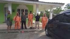 Tim Pramuka Deliserdang Lakukan Penyemprotan Disinfektan di Desa Bandarbaru