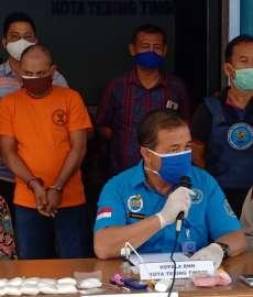 BNNK Tebingtinggi Amankan Pengedar Sabu Asal Aceh  dan Barang Bukti 880,25 Gram