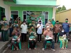 PC NU Batubara Salurkan Bantuan kepada Warga Terdampak Corona