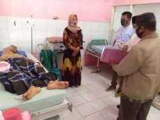 Baznas dan Camat Rantau Utara Bantu Warga Penderita Sakit Diduga Tumor