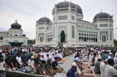 Sejumlah Masjid di Medan Laksanakan Shalat Ied