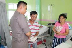 Sambut HUT ke-73 Bhayangkara, Kapolres Nias Santuni Korban Laka Lantas