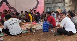 Polisi Kawal Ritual Pembersihan Kampung Selat Besar dari Roh Jahat
