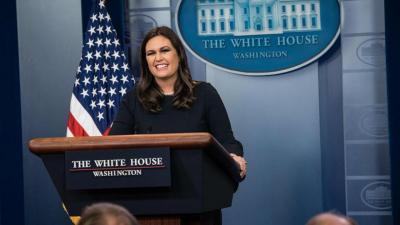 Jubir Gedung Putih Sarah Sanders Mundur