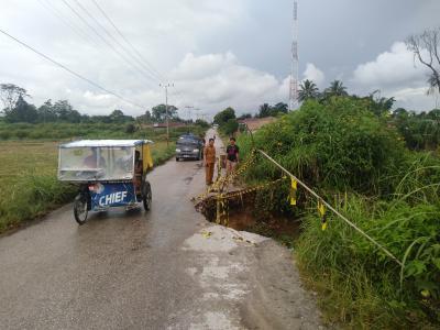 Jalan Penghubung 5 Kecamatan di Dairi Terancam Putus